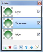 Три слоя изображения
