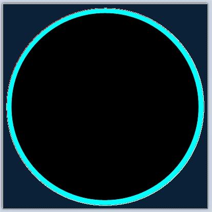 Выделение внешней области круга