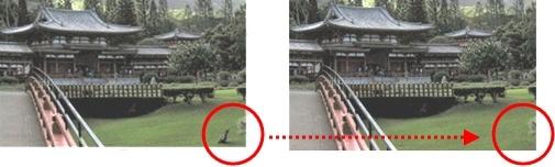 Удаление элементов изображения с помощью клонирования фона