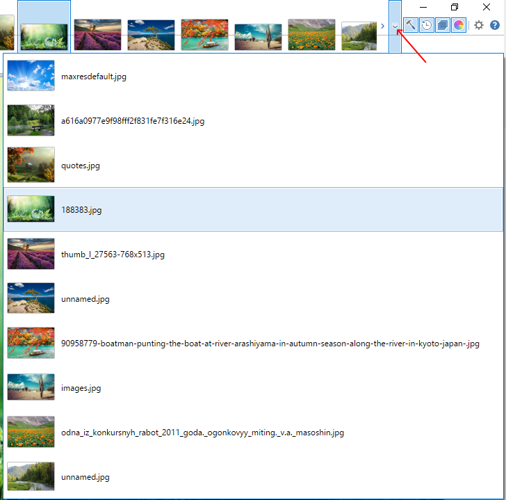 Список изображений